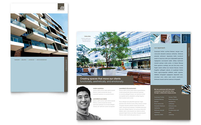 Architect Brochure Template - Word & Publisher
