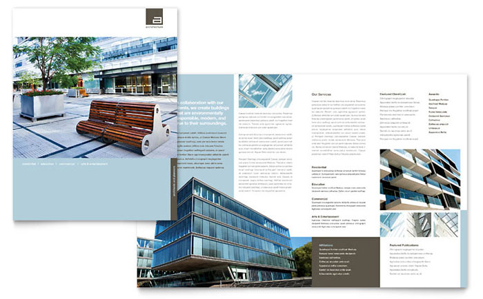 architect brochure template word publisher