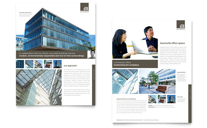 architect datasheet template
