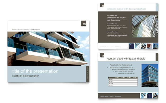 Architect powerpoint presentation powerpoint template architect powerpoint presentation template toneelgroepblik Gallery