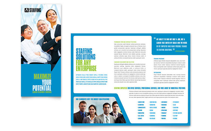 Staffing Amp Recruitment Agency Brochure Template Word