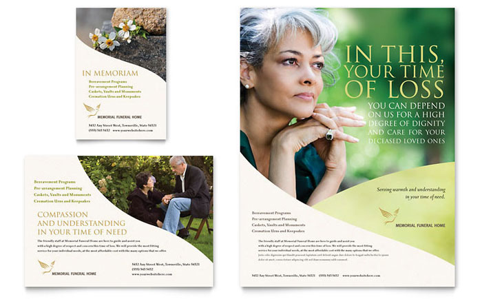 Memorial & Funeral Program Flyer & Ad Template - Word