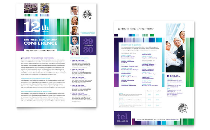 Business Leadership Conference Datasheet Template Download - Word & Publisher - Microsoft Office