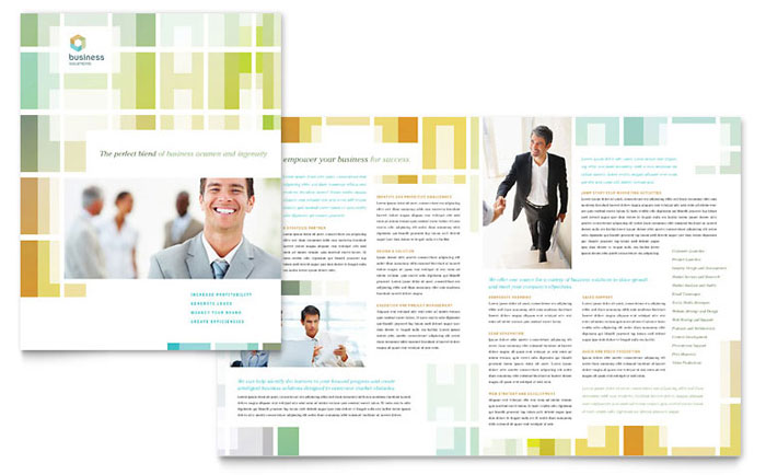 Business Solutions Consultant Brochure Template - Word & Publisher