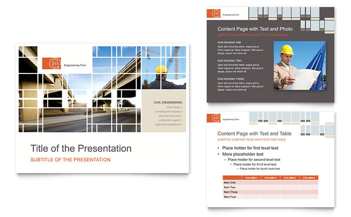 civil engineers powerpoint presentation - powerpoint template, Powerpoint templates