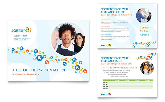 job expo & career fair powerpoint presentation - powerpoint template, Presentation templates