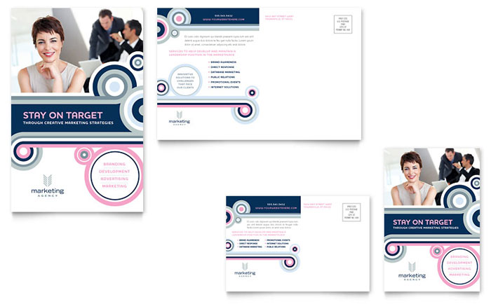 Marketing Agency Postcard Template Download - Word & Publisher - Microsoft Office