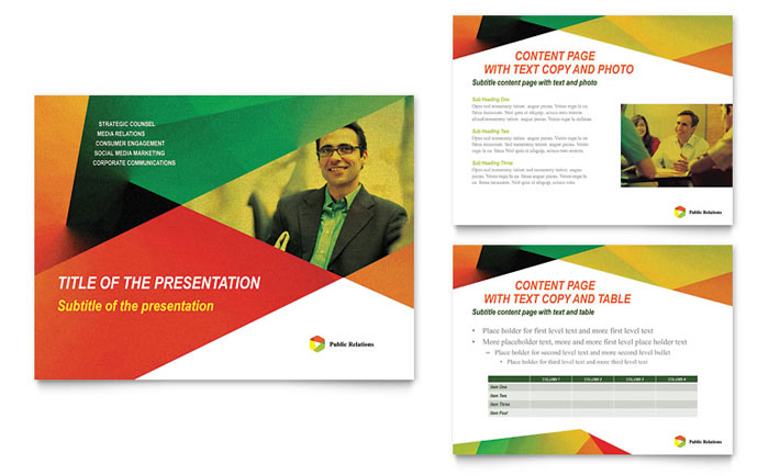 public relations company powerpoint presentation - powerpoint template, Powerpoint templates