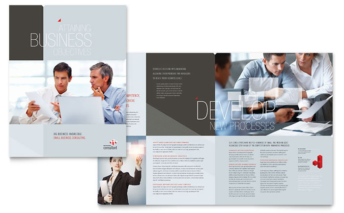 Corporate Business Brochure Template  Word  Publisher