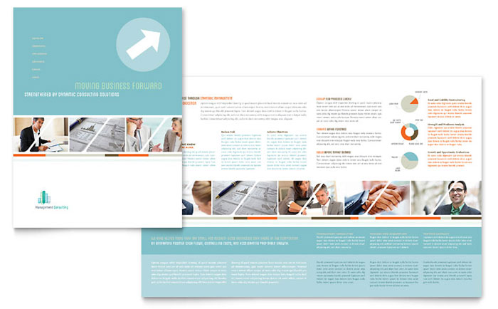 Management consulting brochure template word publisher for 11x17 half fold brochure template