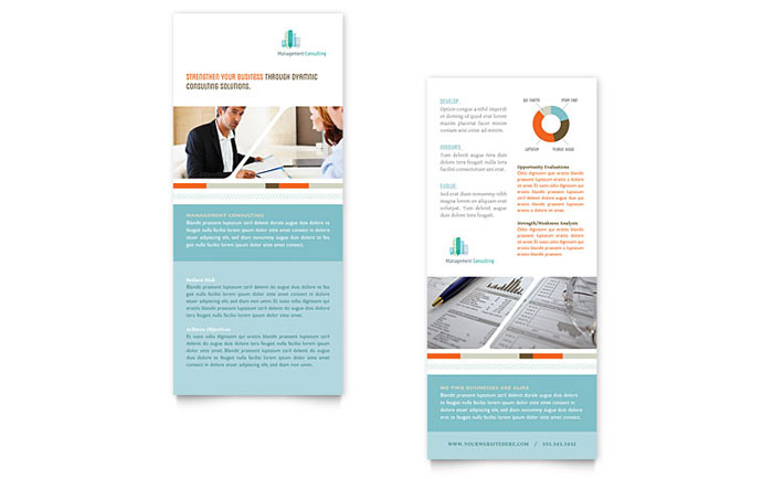 Management Consulting Rack Card Template  Word  Publisher