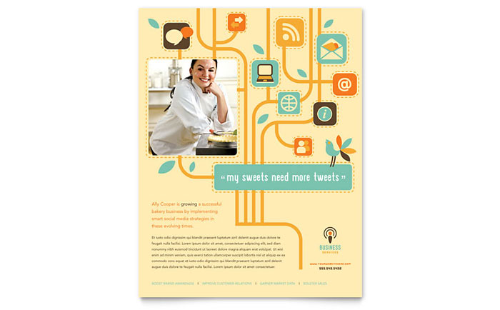 Business Services Flyer Template - Word & Publisher