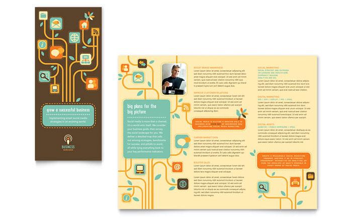 Business Services Tri Fold Brochure Template - Word & Publisher
