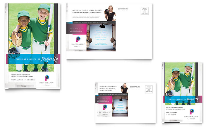 Photography Business Postcard Template - Word & Publisher
