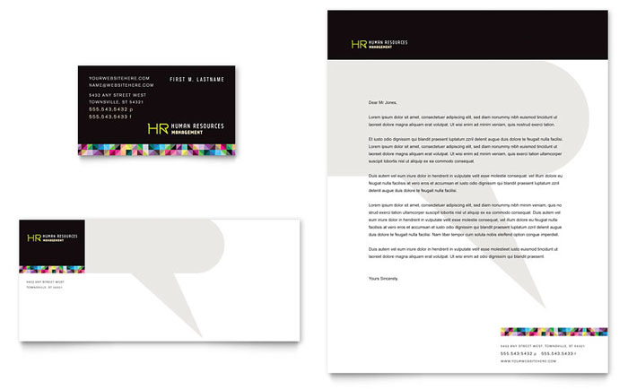 Human resource management business card letterhead template word human resource management business card letterhead template word publisher reheart Image collections