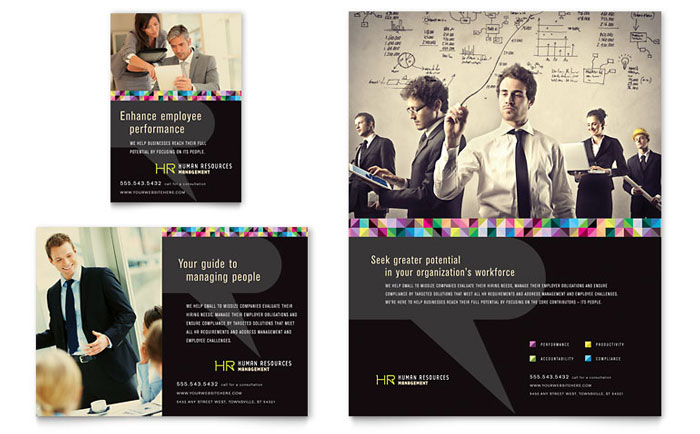 Human resource management flyer ad template word publisher reheart Choice Image