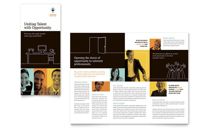 tri fold brochure publisher template - recruiter tri fold brochure template word publisher