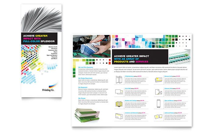 Printing company brochure template word publisher for Company brochure design templates