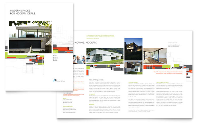 Architectural Design Brochure Template Word Amp Publisher
