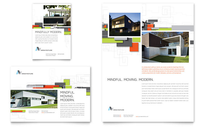 Architectural Design Flyer  Ad Template  Word  Publisher