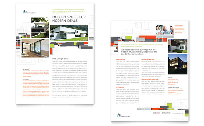 Architectural design datasheet template word publisher Architecture firm for sale