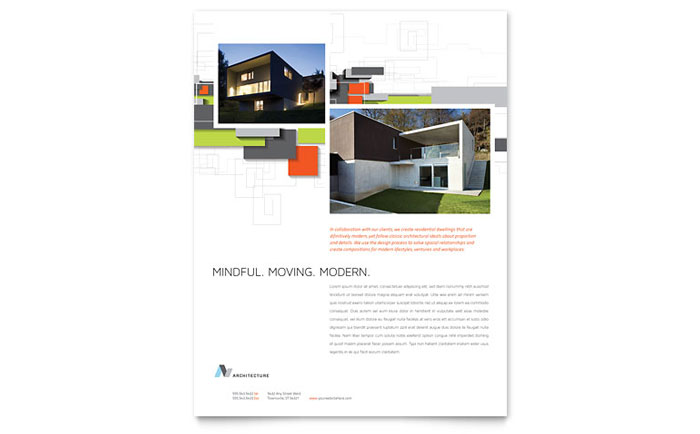 Architectural Design Flyer Template - Word & Publisher
