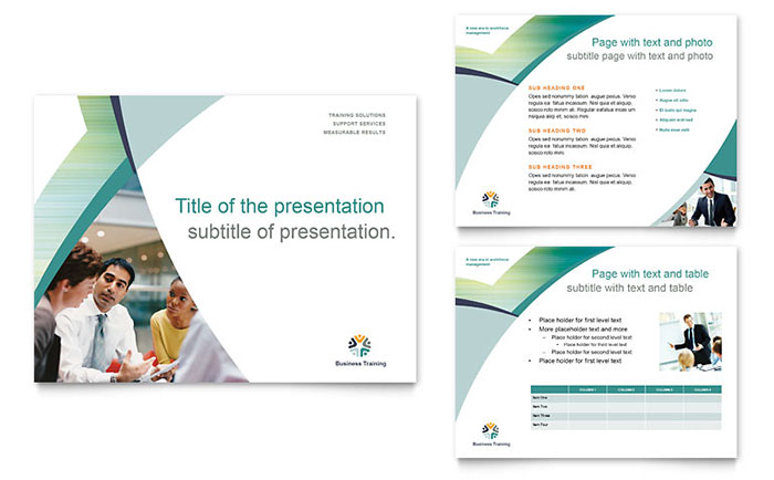 business training powerpoint presentation - powerpoint template, Sample Presentation Slides Template, Presentation templates
