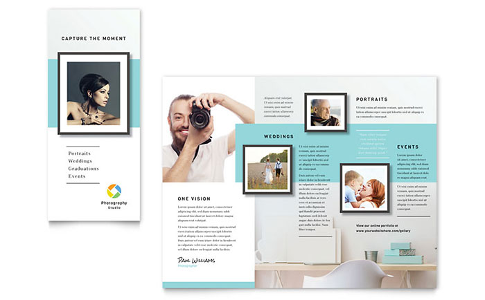 Photographer brochure template word publisher for Publisher brochure templates