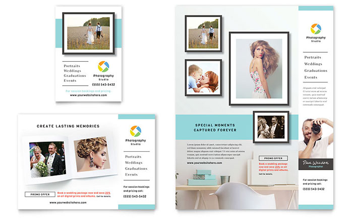 Photographer Flyer & Ad Template - Word & Publisher