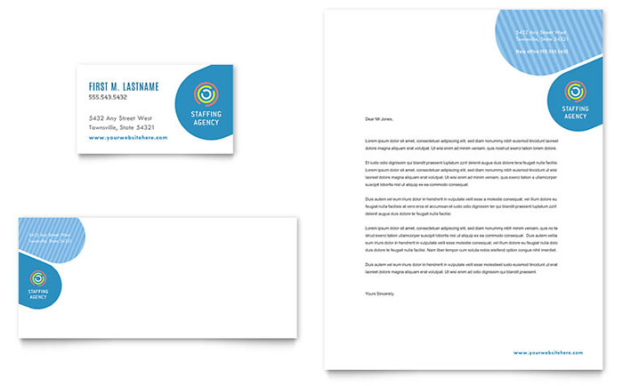 Employment agency business card letterhead template word publisher friedricerecipe