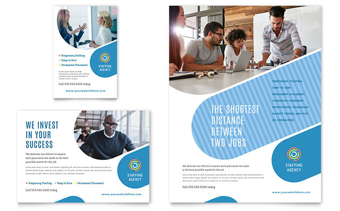 employment agency flyer  u0026 ad template
