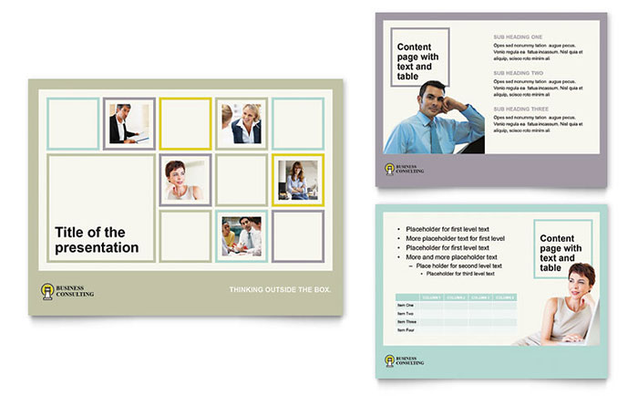 Business Consultants PowerPoint Presentation Template - PowerPoint