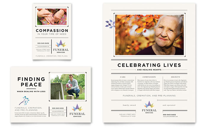 Funeral Services Flyer & Ad Template Download - Word & Publisher - Microsoft Office