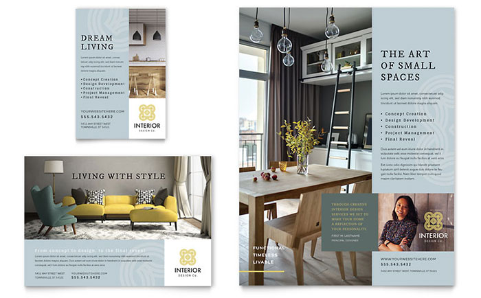 Interior Design Flyer & Ad Template - Word & Publisher