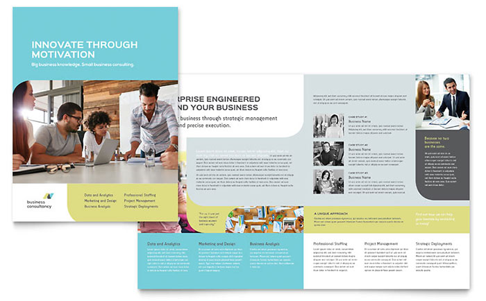 Small Business Consultant Brochure Template - Word & Publisher