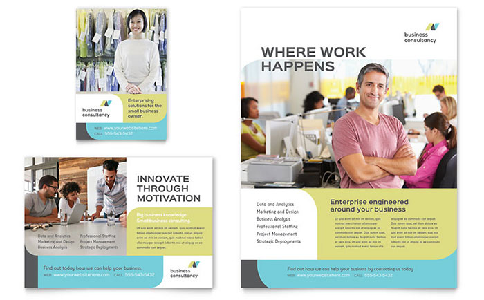 Small Business Consultant Flyer & Ad Template Download - Word & Publisher - Microsoft Office