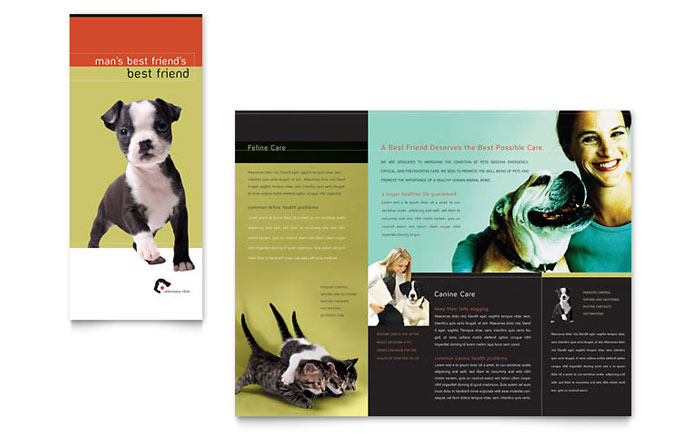 veterinary clinic brochure template word publisher. Black Bedroom Furniture Sets. Home Design Ideas