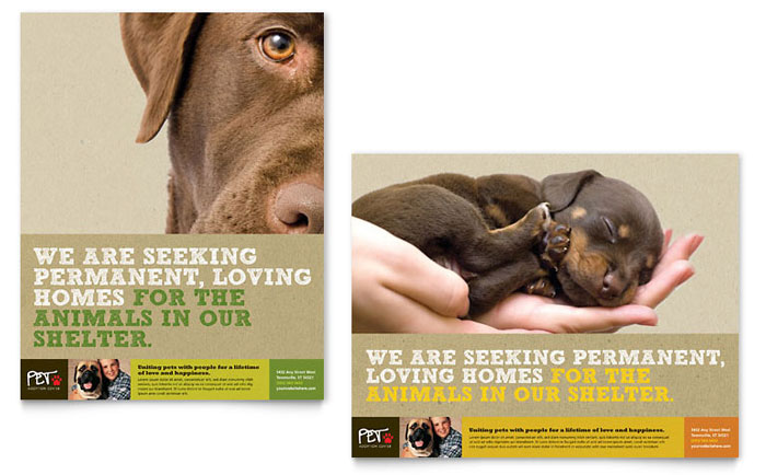 Animal Shelter & Pet Adoption Poster Template - Word & Publisher