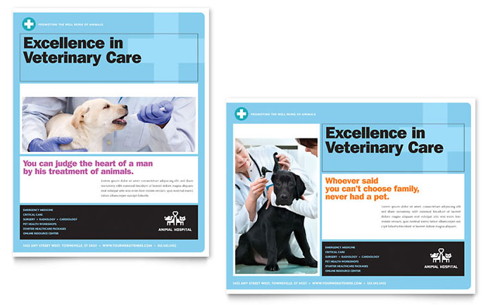 Animal Hospital Poster Template - Word & Publisher