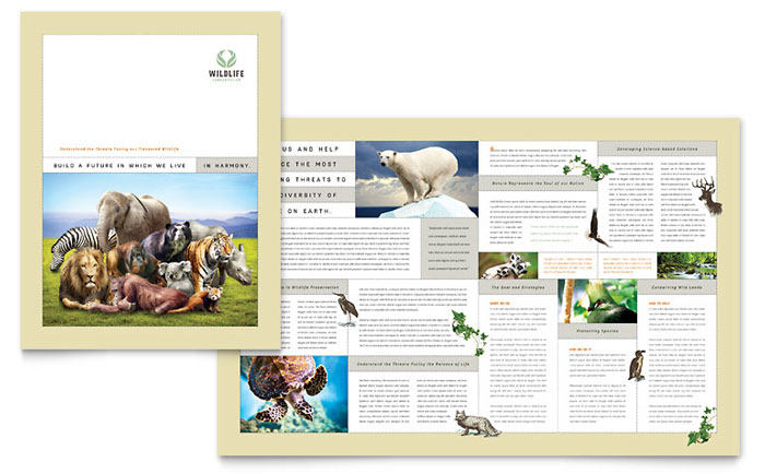 Nature & Wildlife Conservation Brochure Template Download - Word & Publisher - Microsoft Office