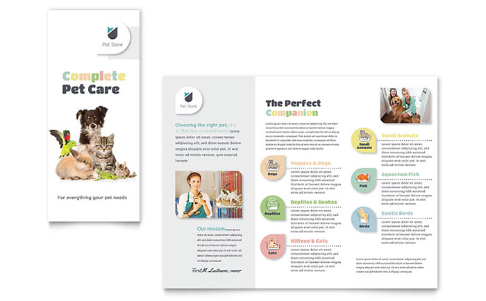 Retail Sales Brochures Flyers Word Publisher Templates - Sales brochure template