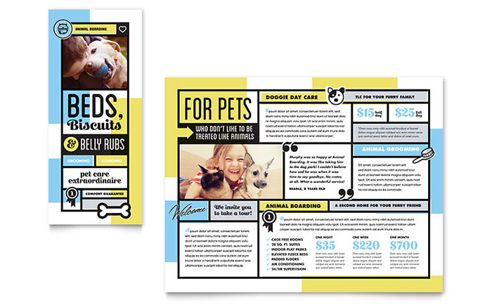 Pet Boarding Brochure Template - Word & Publisher