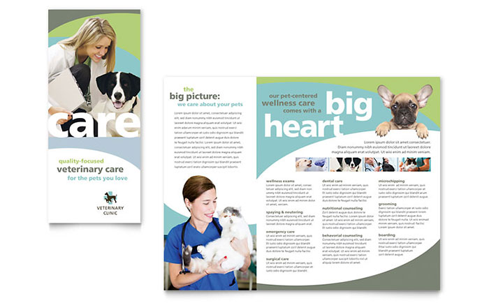 Vet Clinic Brochure Template - Word & Publisher