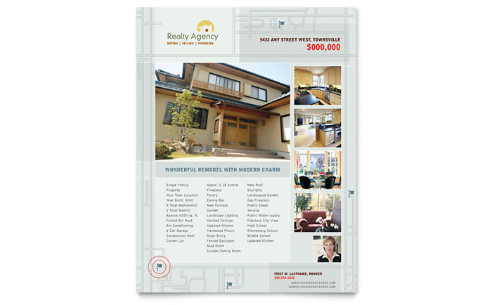 Real Estate Agent & Realtor Flyer Template - Word & Publisher