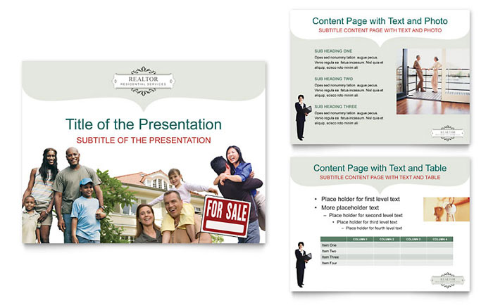 Realtor & Realty Agency PowerPoint Presentation Template - PowerPoint