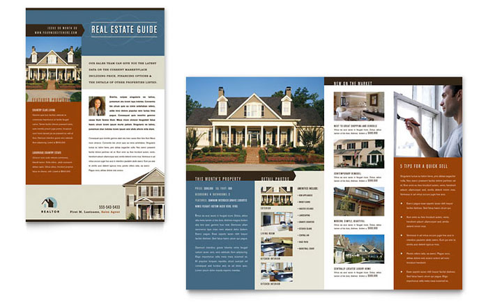 Residential Realtor Newsletter Template Word amp Publisher