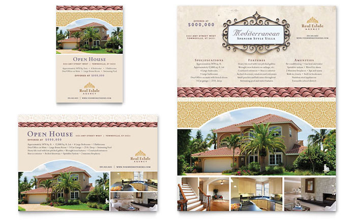 luxury real estate flyer ad template word publisher