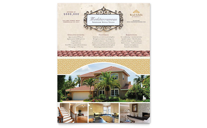 Luxury Real Estate Flyer Template - Word & Publisher