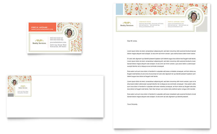 Real Estate Home for Sale Business Card & Letterhead Template - Word & Publisher