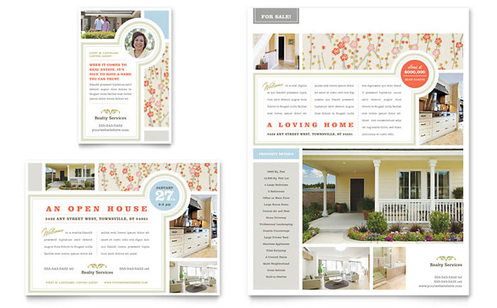 Real Estate Home For Sale Flyer & Ad Template - Word & Publisher